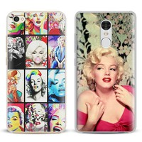 Marilyn Monroe actress Coque Phone Case Shell Cover For Xiaomi Redmi Note 4 4X 5A 6 6A PRO Mi 8 5 5S PLUS Max A1 Note 2 3