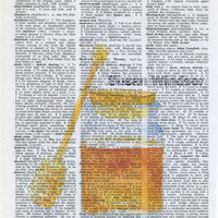 Honey Jar Print Dictionary Page