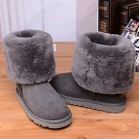 Tagre™ UGG Women Fashion Bow Leather Snow Boots In Tube Boots Shoes