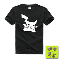 Digimon anime Pokemon Pikachu Printed Mens Men T Shirt Camisetas Masculinas 2015 Manga Curta Camisa Masculina Tshirt