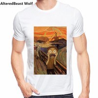 Rick and morty the scream Print  T Shirt