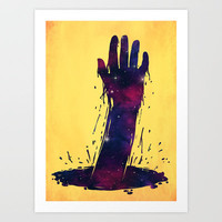 I want to hold your hand, from across the universe Art Print by [ his artwork ]