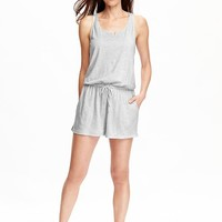 Old Navy Womens Sleeveless Jersey Rompers