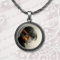 Supernatural Sam Necklace Supernatural Sam Jewelry Glass Dome Pendant Necklace art gift for women for men 2017 A-37-1