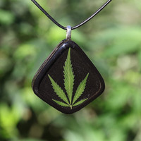 Chemdawg Cannabis Leaf Pendant Necklace