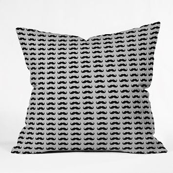 Allyson Johnson Classy Mustaches Throw Pillow