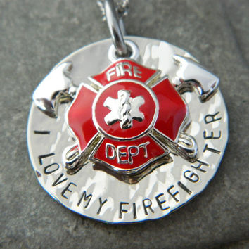 I love My Firefighter Please Keep Him/Her Safe by WireNWhimsy