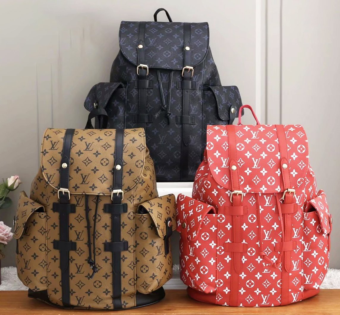 Image of Louis Vuitton LV new large-capacity buckle bag Leisure outdoor bag Mountaineering bag Fashion backpack