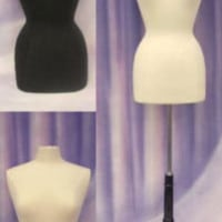 Female Hard foam Size 6-8 Mannequin Dress Form #F6/8W+BS-02BKX+1 Black Cover
