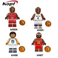 Building Blocks Super Heroes NBA Professional Basketball Player Michael Jordan Stephen Curry Kobe Bryant Bricks Kids Gift Toys