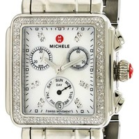 Michele Signature Deco Diamond Watch MWW06P000110