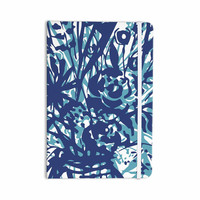 """Patternmuse """"Inky Floral Navy"""" Blue Teal Painting Everything Notebook"""