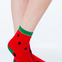 Seeds The Day Watermelon Crew Socks GoJane.com