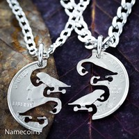 Skateboard Friends or Couples Necklaces