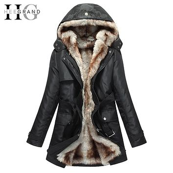 Women Basic Jackets Winter Coats Faux Fur Woman Warm Parka Hood Coat Oversize 2 Pieces Sets