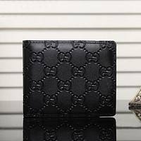 GUCCI Hot Sale Vintage Men's Embossed Letter Wallet