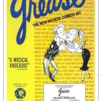 Grease 11x17 Broadway Show Poster (1972)