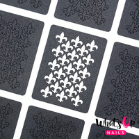 Whats Up Nails - Fleur De Lis Stencils