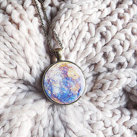 Mercury Necklace Planet Necklace Space Jewelry Rustic Necklace Planets Solar System Gift For Her