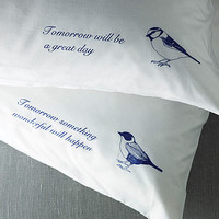 Set Of Two 'Sweet Dreams' Pillowcases