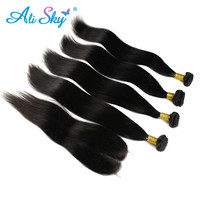 Online Shop Wholesale Brazilian Virgin Hair With Closure Rosa Hair Products Brazilian Straight Hair 4 Bundles With 1pcs Lace Closure | Aliexpress Mobile