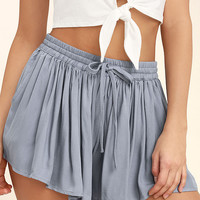 Jack by BB Dakota Calla Slate Blue Shorts