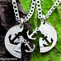 Anchor Best Friends Necklaces, Best Friends Jewelry