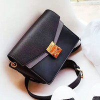 MCM sells retro patchwork gold button shoulder bag stylish casual woman shopping bag High quality