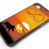 Hakuna Matata Invinity PC 001 - Print on Hard Cover - For iPhone 4, iPhone 4S, and iPhone 5 Case - Black, White, and Clear