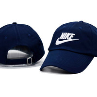 Navy Blue Nike Embroidered Baseball cotton cap Hat