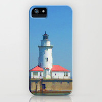 Chicago Harbor Lighthouse iPhone Case by Lyle Hatch   Society6