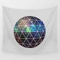 Space Geodesic Wall Tapestry by Terry Fan