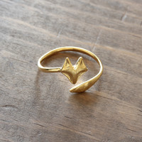 minimalist fox ring