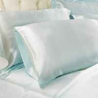 LilySilk 100% Mulberry Silk Pillowcase,Classic Style,Turquoise Color