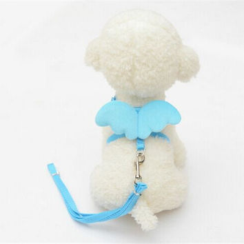 Adjustable Angel Wings Harness with Leash for Small Dogs