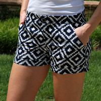 Serena Shorts - Navy