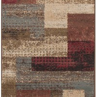 Surya Riley RLY5004 Red/Brown Contemporary Area Rug