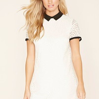 Contrast Collar Lace Dress   Forever 21 - 2000222939