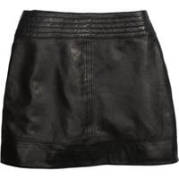 Trouvé Quilted Leather Miniskirt