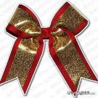 Custom Texas Size, Standard Size, Youth Size, and Pig Tail Hair Bows for Cheer / Dance by POWERBows - 9584
