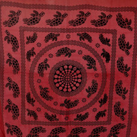 Turtle Tapestry, Beach throw, Mandala, Table throw Tapestry, Wall Hanging, Wall Decor, Bedspread