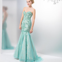 COLORS 1452 Vintage Style Lace Mermaid Prom Dress Evening Gown