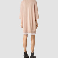 ALLSAINTS US: Womens Relm Knit Dress (Quartz Pink)