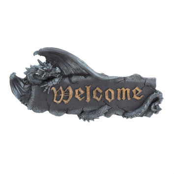 Medieval Dragon Welcome Sign