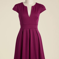 Meet Me at the Punch Bowl A-Line Dress in Berry