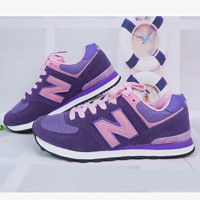 New balance abric is breathable n leisure sports Couples forrest gump running Purple