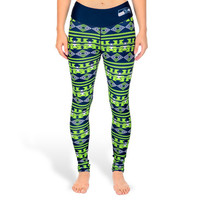 Seattle Seahawks Women's Aztec Print Leggings