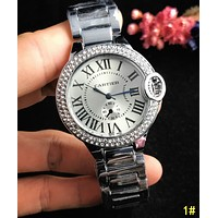 Cartier Classic Popular Women Men Chic Diamond Movement Quartz Watch Wristwatch 1#