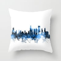 Chicago Illinois Skyline Throw Pillow by ArtPause