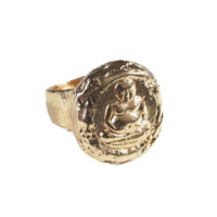 Jessica Ricci 18K Gold Plated Buddhist Luck Ring